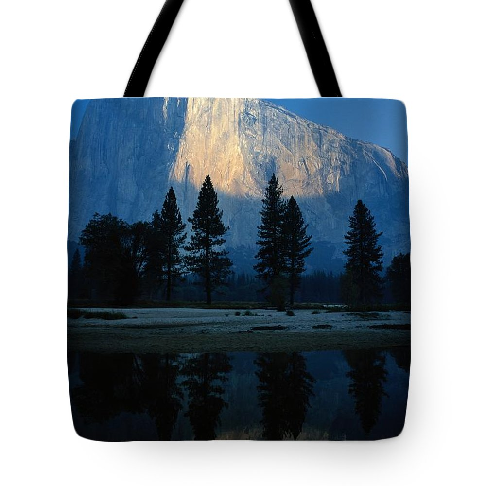 North America Tote Bag featuring the photograph Early Morning View Of El Capitan by Phil Schermeister