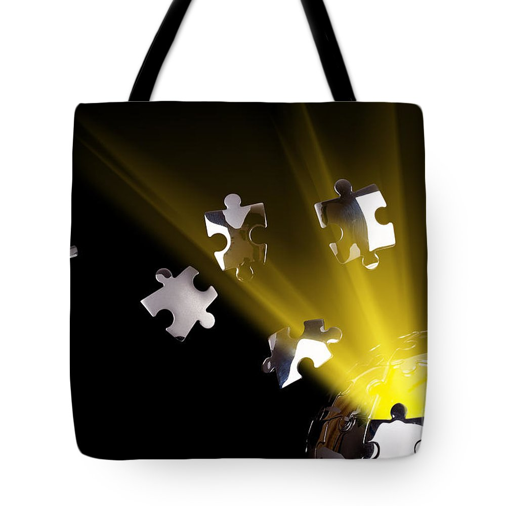 Collective Tote Bag featuring the photograph Earth Globe Bursting With Energy by Simon Bratt Photography LRPS