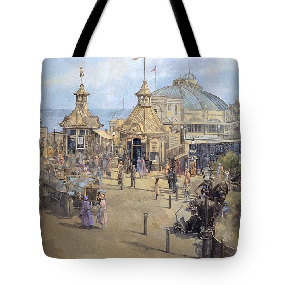 Seaside; Sea; Pier; Dome; East Sussex; Leisure; Recreation; Day Trip; Eastbourne Tote Bag featuring the painting Eastbourne by Peter Miller