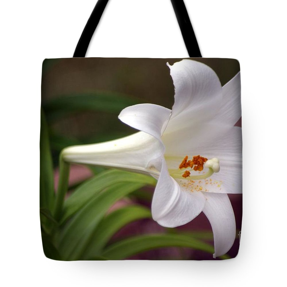 Floral Tote Bag featuring the photograph Easter Lily by Living Color Photography Lorraine Lynch