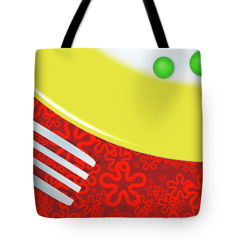 Minimalism Tote Bag featuring the digital art Eat Your Peas by Richard Rizzo