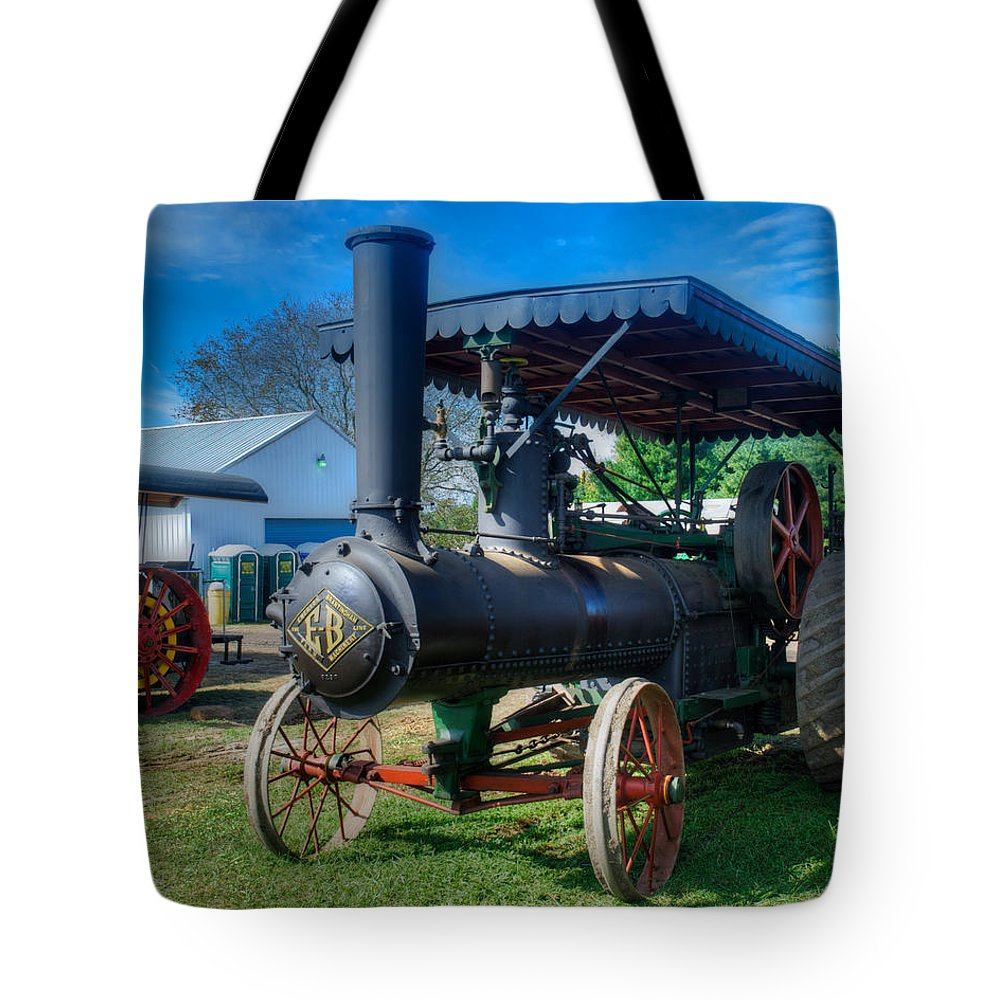 Arcadia Volunteer Fire Company Tote Bag featuring the photograph EB by Mark Dodd