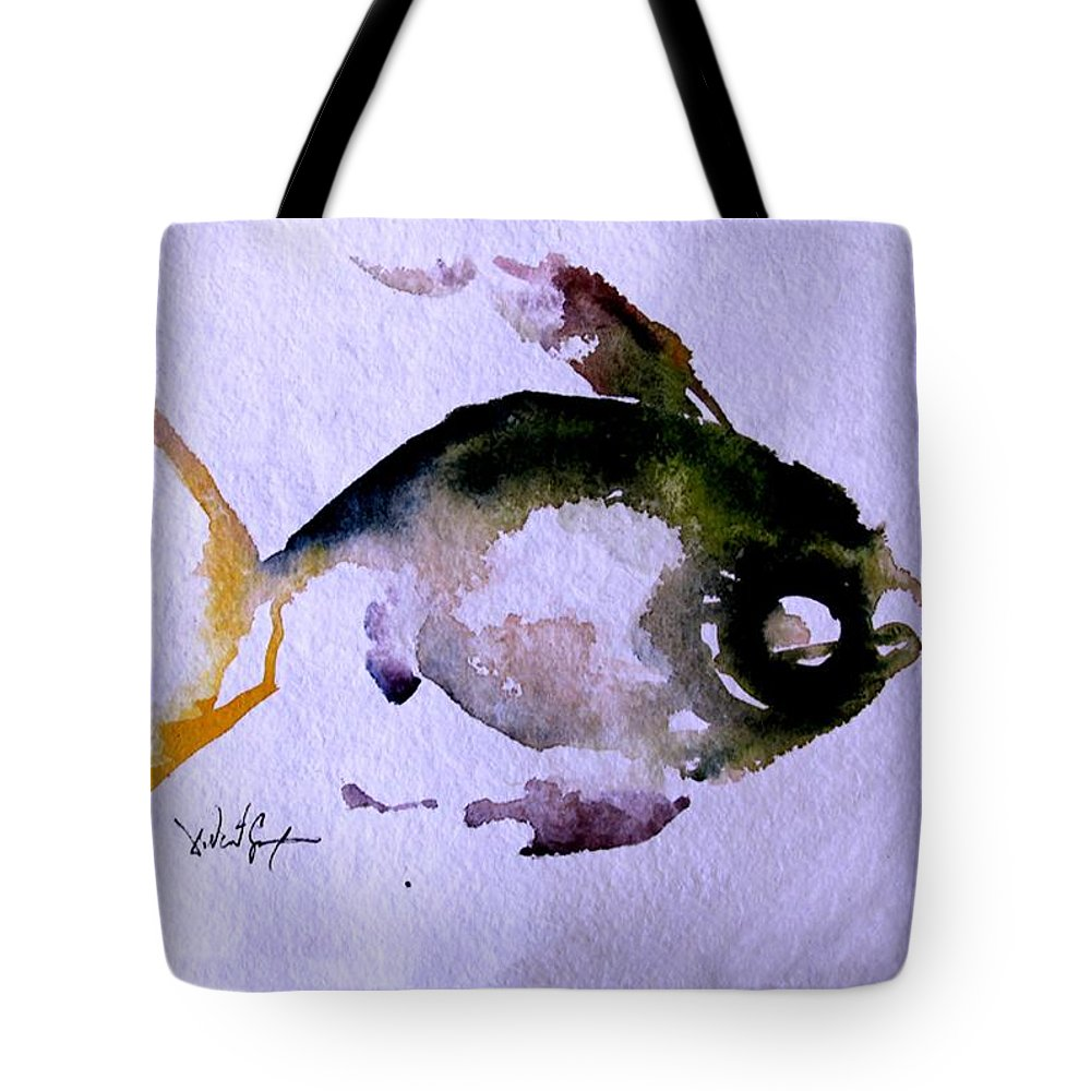 Fish Tote Bag featuring the painting Echo Fish Fourteen by J Vincent Scarpace