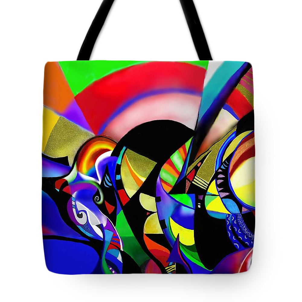 Eclipse Tote Bag featuring the painting Eclipse by Wolfgang Schweizer