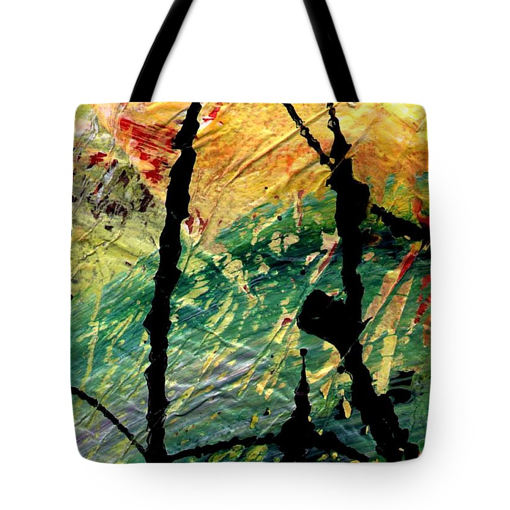 Abstract Tote Bag featuring the painting Ecstasy by Angela L Walker