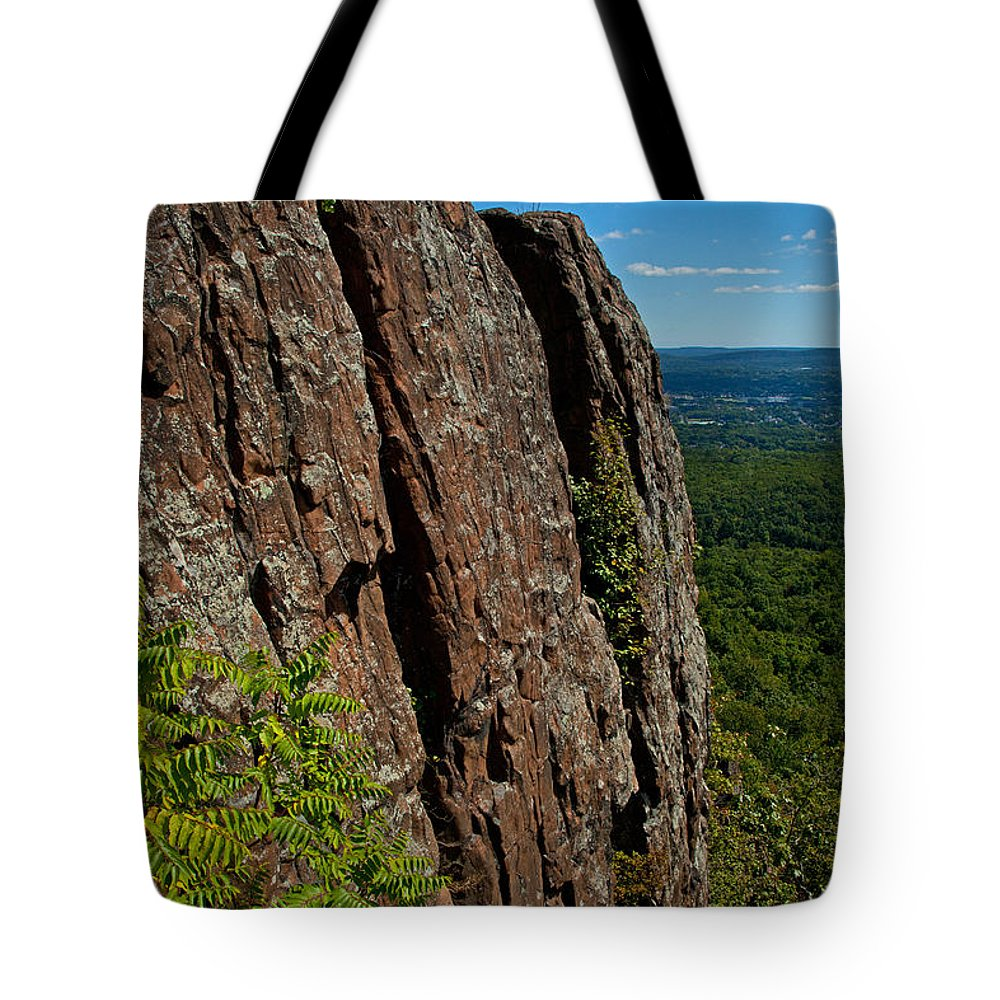 Landscape Tote Bag featuring the photograph Edge Of The Mountain by Karol Livote