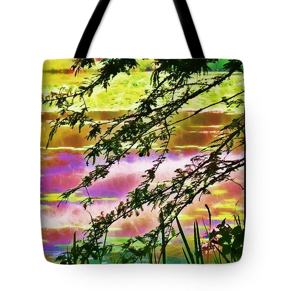 Pond Tote Bag featuring the photograph Edge Of The Pond by Judi Bagwell