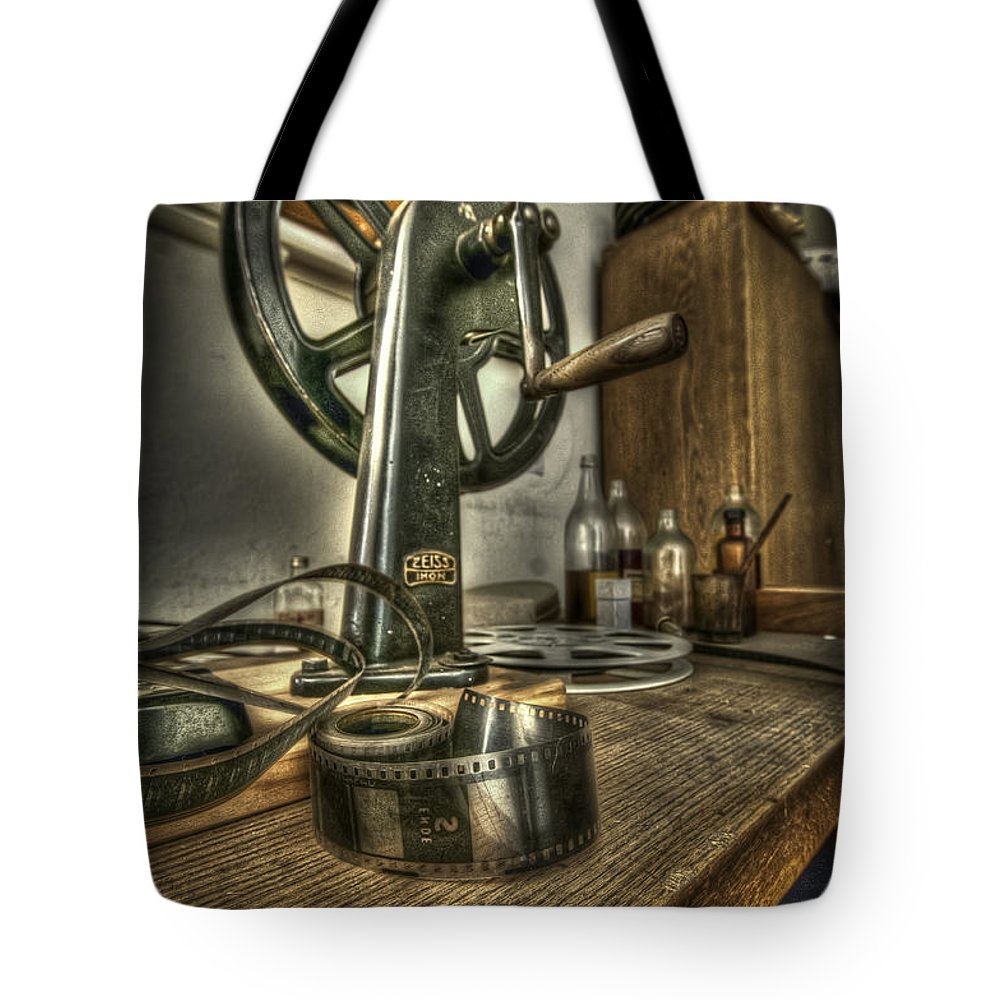 Abandoned Tote Bag featuring the photograph Editing Room 1 by Nathan Wright