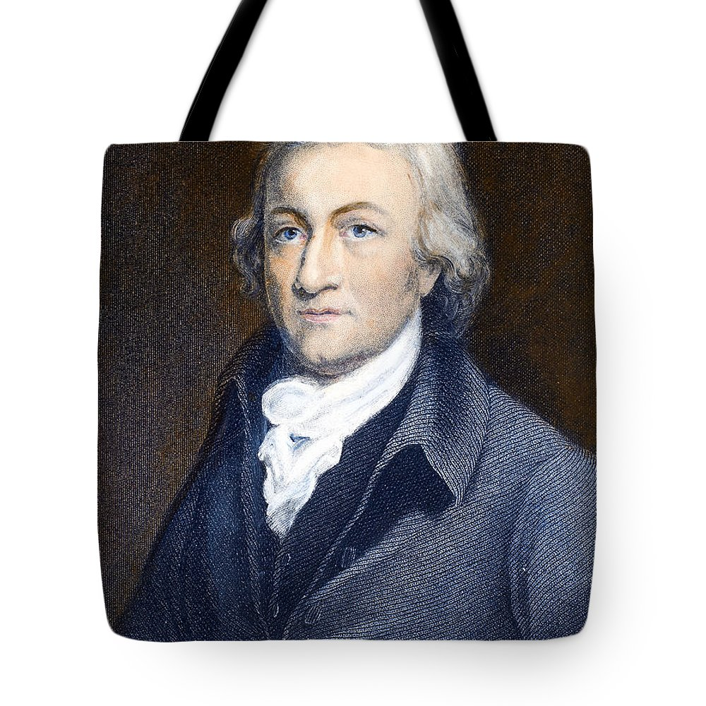 18th Century Tote Bag featuring the photograph Edmund Cartwright by Granger