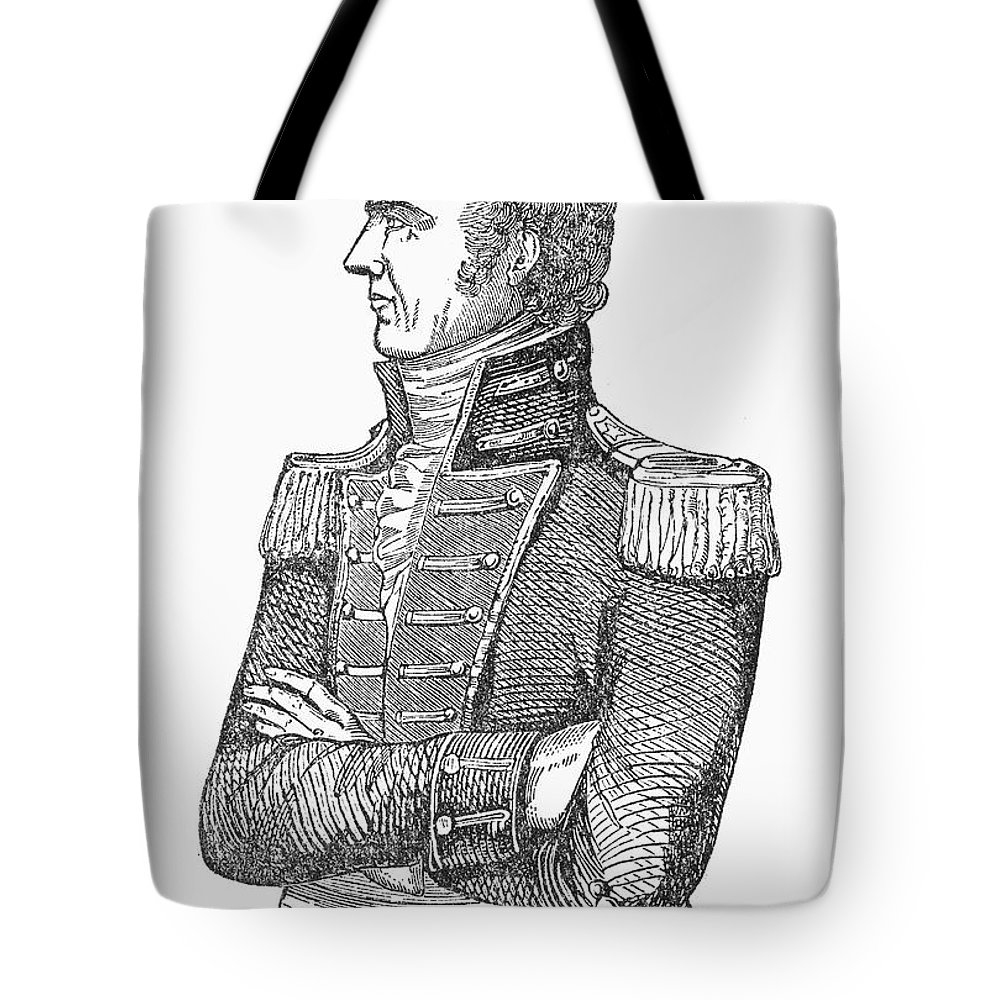19th Century Tote Bag featuring the photograph Edmund Pendleton Gaines by Granger
