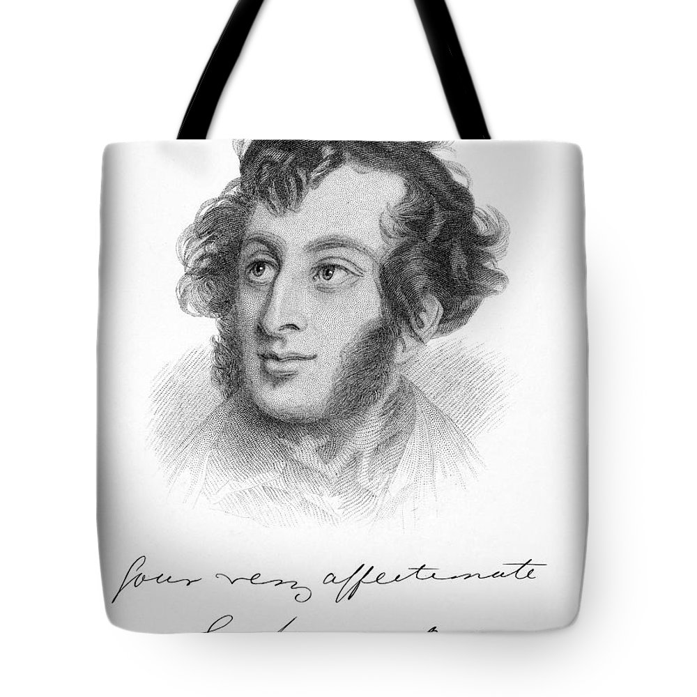 19th Century Tote Bag featuring the photograph Edward Bulwer Lytton by Granger