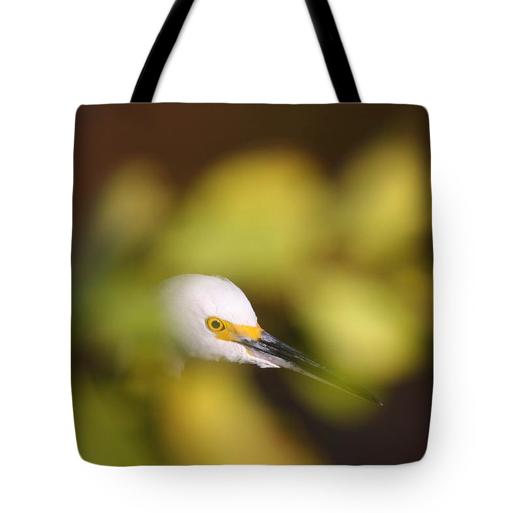 Egret Tote Bag featuring the photograph Egret Abstract by Bruce J Robinson