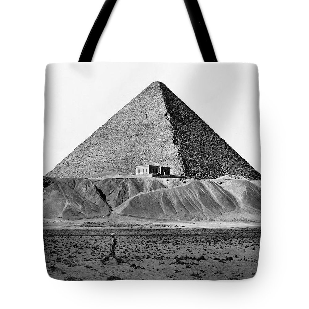 1890 Tote Bag featuring the photograph Egypt: Cheops Pyramid by Granger