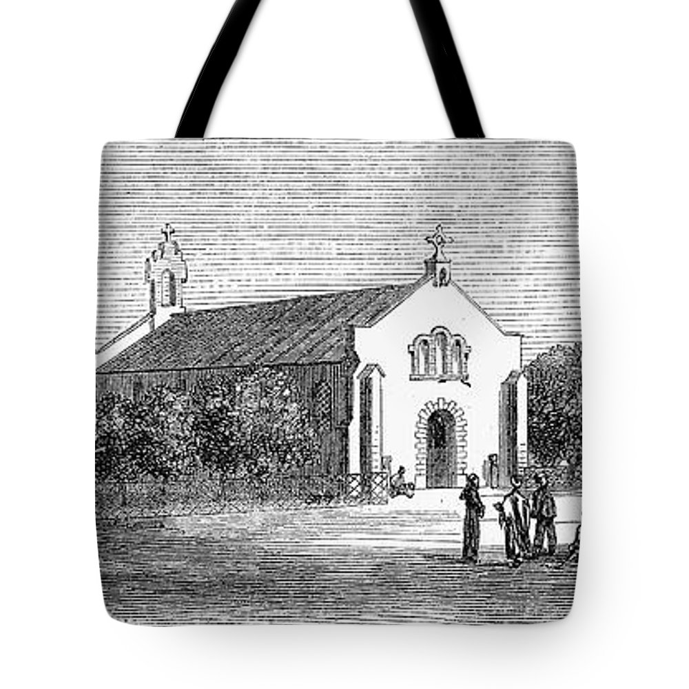 1869 Tote Bag featuring the photograph Egypt: El Guisr Church, 1869 by Granger