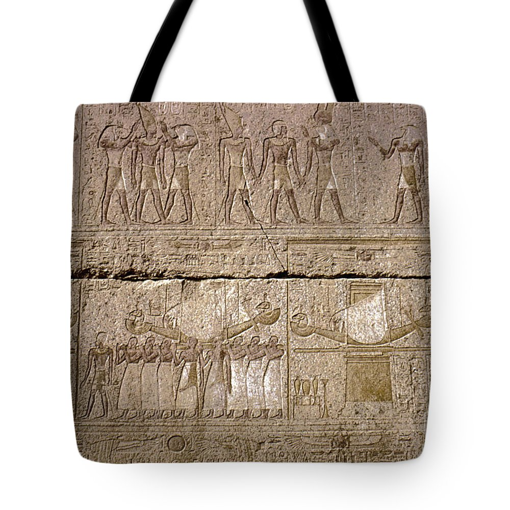 4th Century B.c. Tote Bag featuring the photograph Egypt: Karnak Ruins by Granger