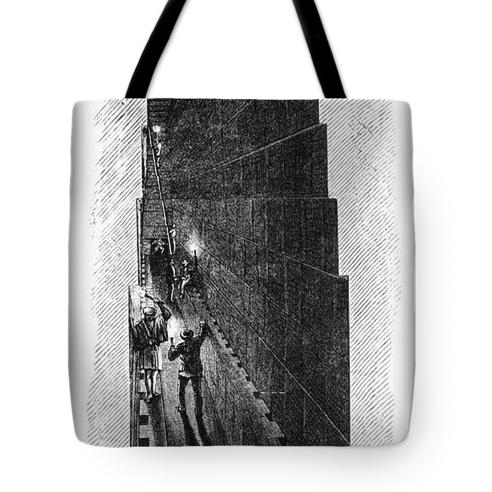 1887 Tote Bag featuring the photograph Egypt: Pyramid Interior by Granger
