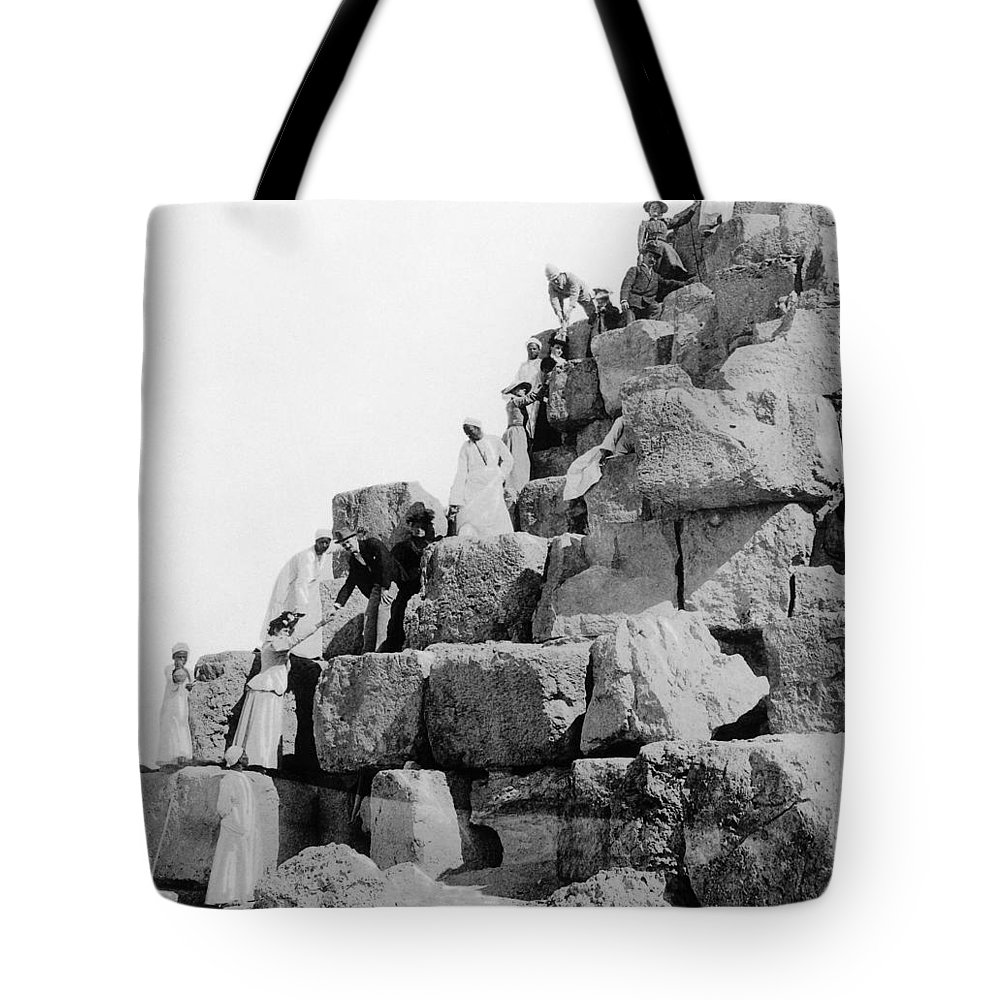 1890s Tote Bag featuring the photograph Egypt: Tourism, C1890s by Granger