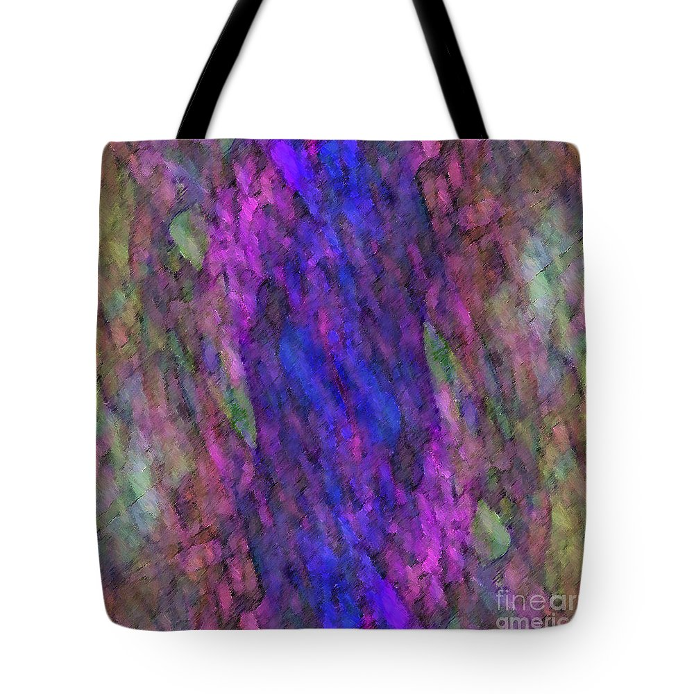 Abstract Tote Bag featuring the digital art Eidolon by ME Kozdron