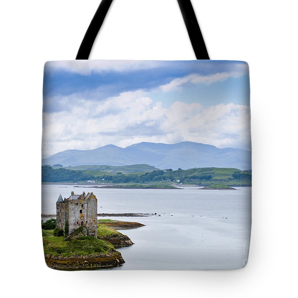 Alsh Tote Bag featuring the photograph Eilean Donan Castle by Andrew Michael