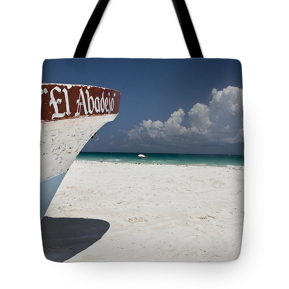 Boat Tote Bag featuring the photograph El Abadejo by Kacy Taylor
