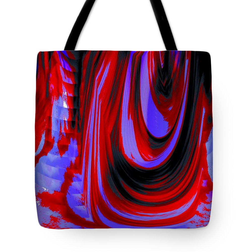 Abstract Tote Bag featuring the photograph Electric Underground by Renate Nadi Wesley