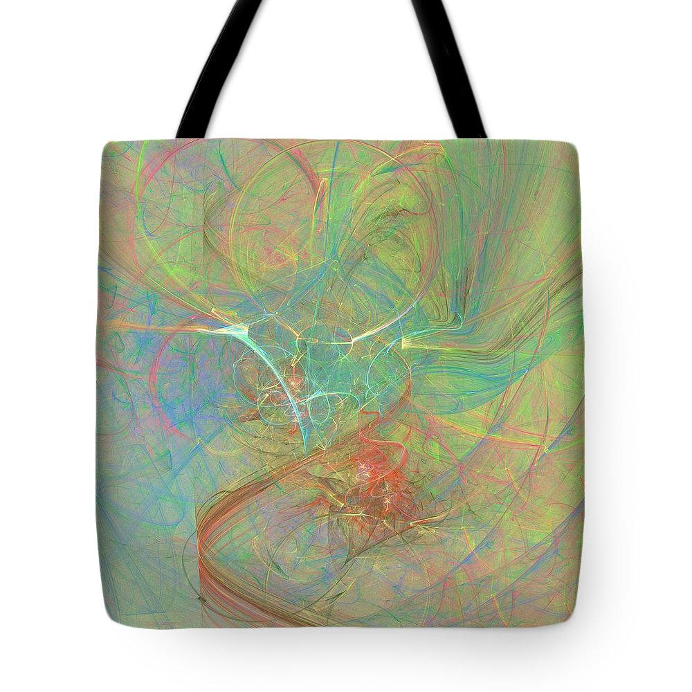 Digital Art Tote Bag featuring the digital art Electrifying by Christy Leigh