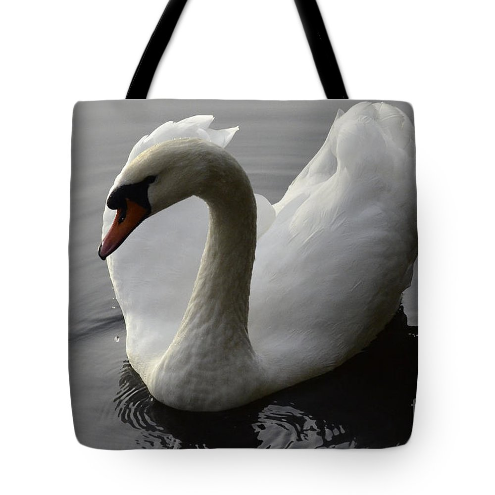 Swan Tote Bag featuring the photograph Elegance by Bob Christopher