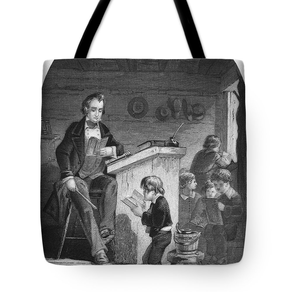 1840 Tote Bag featuring the photograph Elementary School, C1840 by Granger