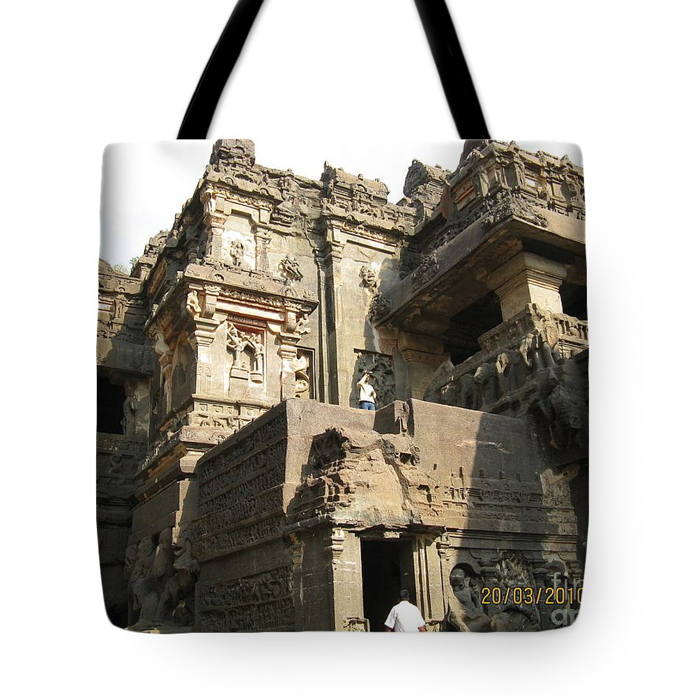 Ellora Tote Bag featuring the photograph Elloraindia by Nedunseralathan R