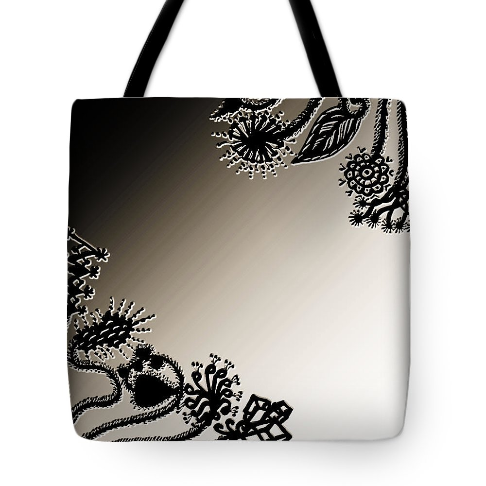 Embroidery Tote Bag featuring the digital art Embroidery At Corners by Sumit Mehndiratta