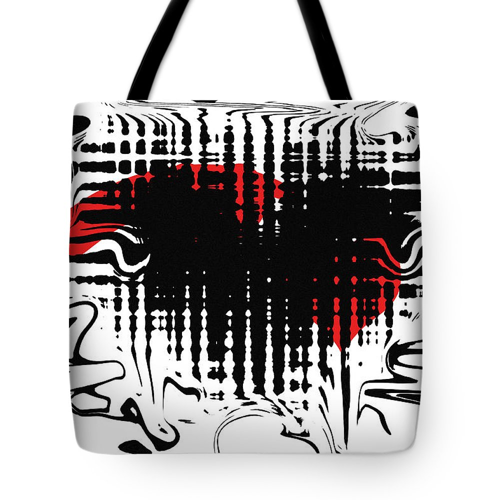 Abstract Tote Bag featuring the digital art Emotion by David Dehner