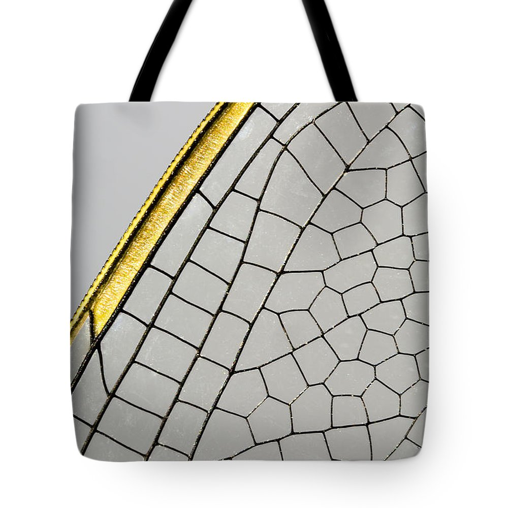 Fn Tote Bag featuring the photograph Emperor Dragonfly Anax Imperator Wing by Bert Pijs