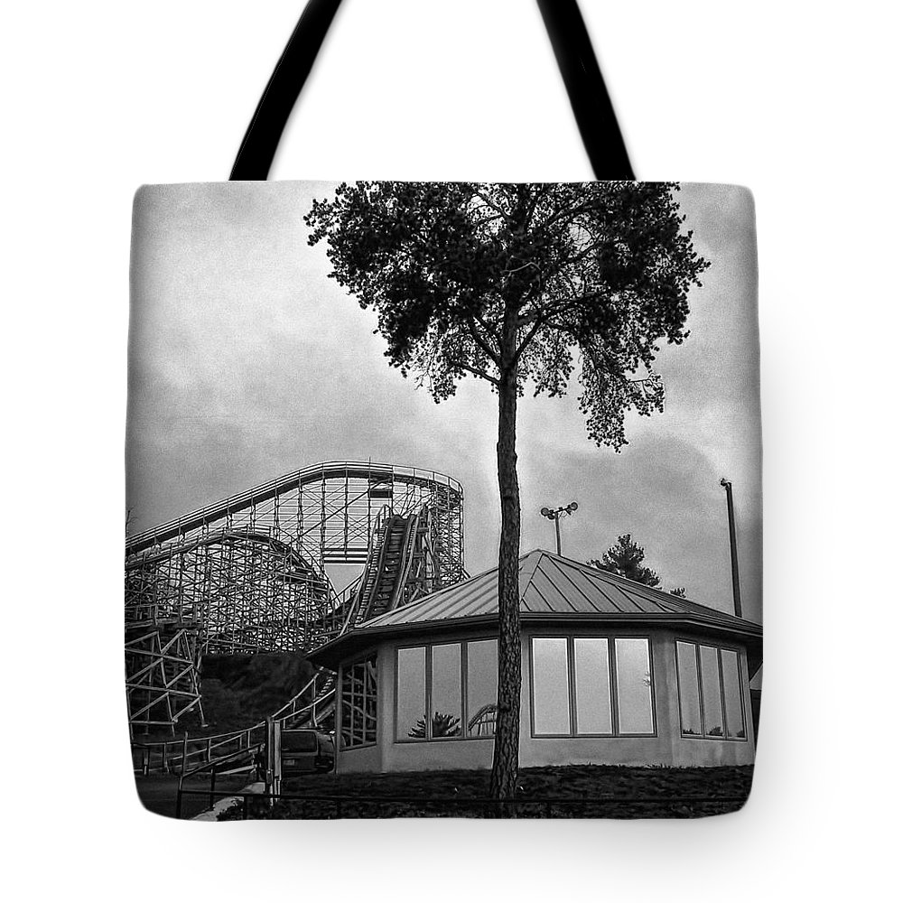 Roller Coaster Tote Bag featuring the photograph End Of Season by John Hansen