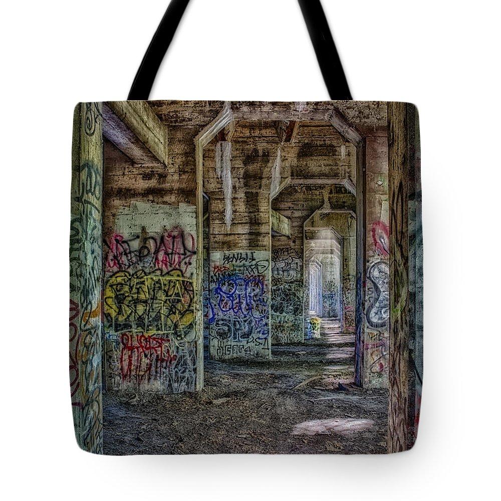 Susan Candelario Tote Bag featuring the photograph Endless Graffiti by Susan Candelario