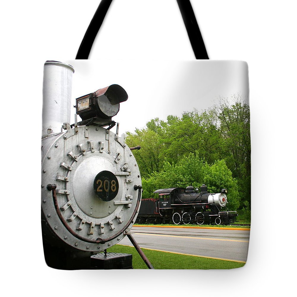 Engine Tote Bag featuring the photograph Engine 208 by Laurel Talabere