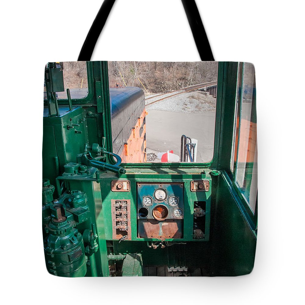 Arcade & Attica Tote Bag featuring the photograph Engineer's View by Guy Whiteley