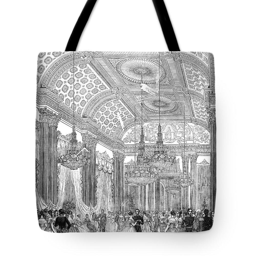 1848 Tote Bag featuring the drawing England - Royal Ball 1848 by Granger