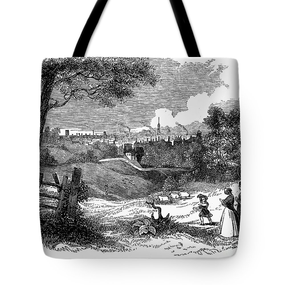 1842 Tote Bag featuring the photograph England: Manchester, 1842 by Granger