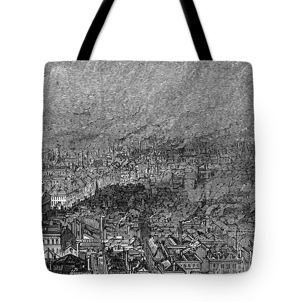 1876 Tote Bag featuring the photograph England: Manchester, 1876 by Granger