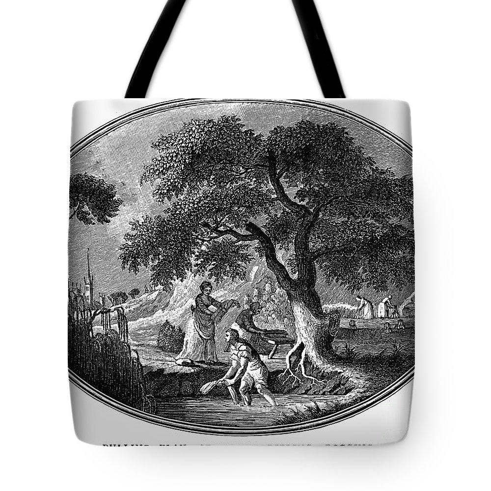 1800 Tote Bag featuring the photograph England: Pulling Flax by Granger