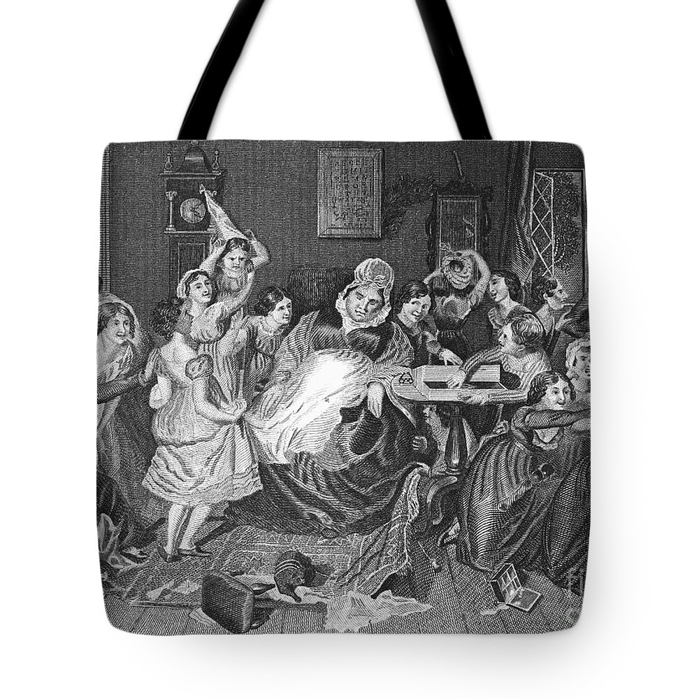 1830 Tote Bag featuring the photograph England: Village School by Granger