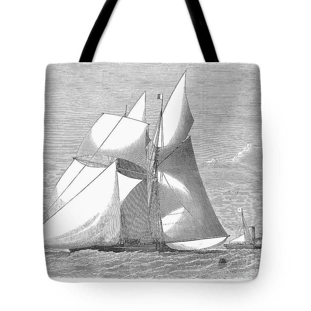 1868 Tote Bag featuring the photograph England: Yacht Race, 1868 by Granger