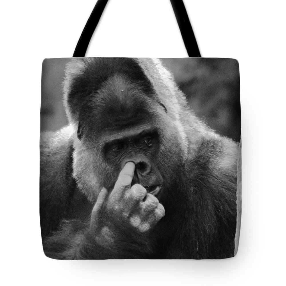 Gorilla Tote Bag featuring the photograph Enjoy The Moment by Bruce J Robinson