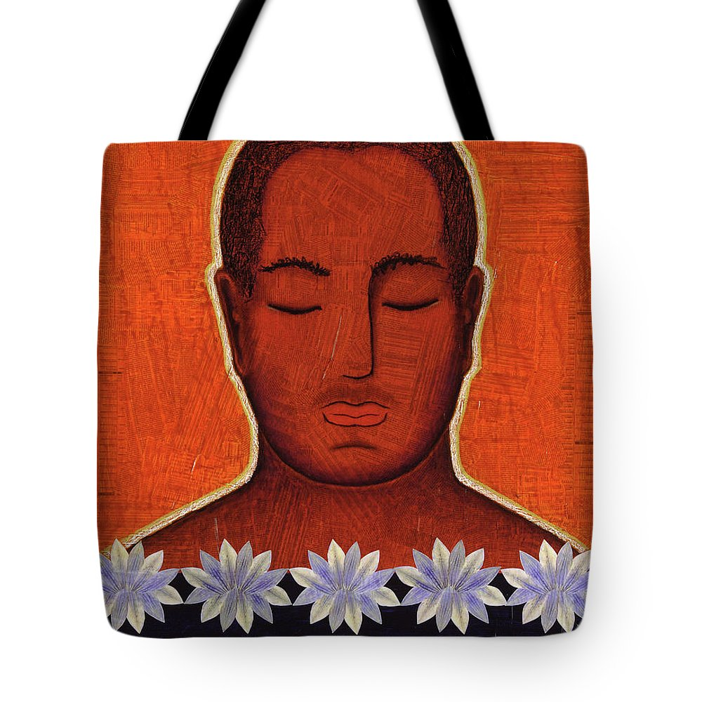 Buddha Tote Bag featuring the mixed media Enlightenment by Gloria Rothrock