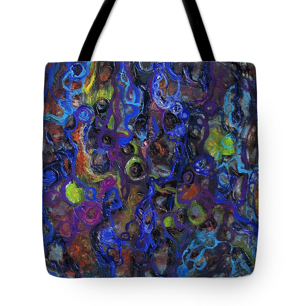 Tortuous Tote Bag featuring the painting Entanglements Redux by Regina Valluzzi