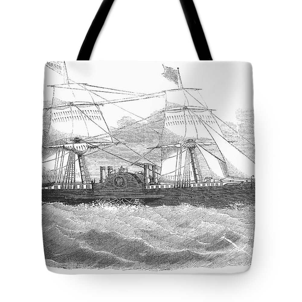 1853 Tote Bag featuring the photograph Ericssons Caloric Engine by Granger