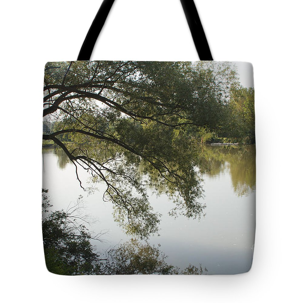 Erie Canal Tote Bag featuring the photograph Erie Canal Turning Basin by William Norton