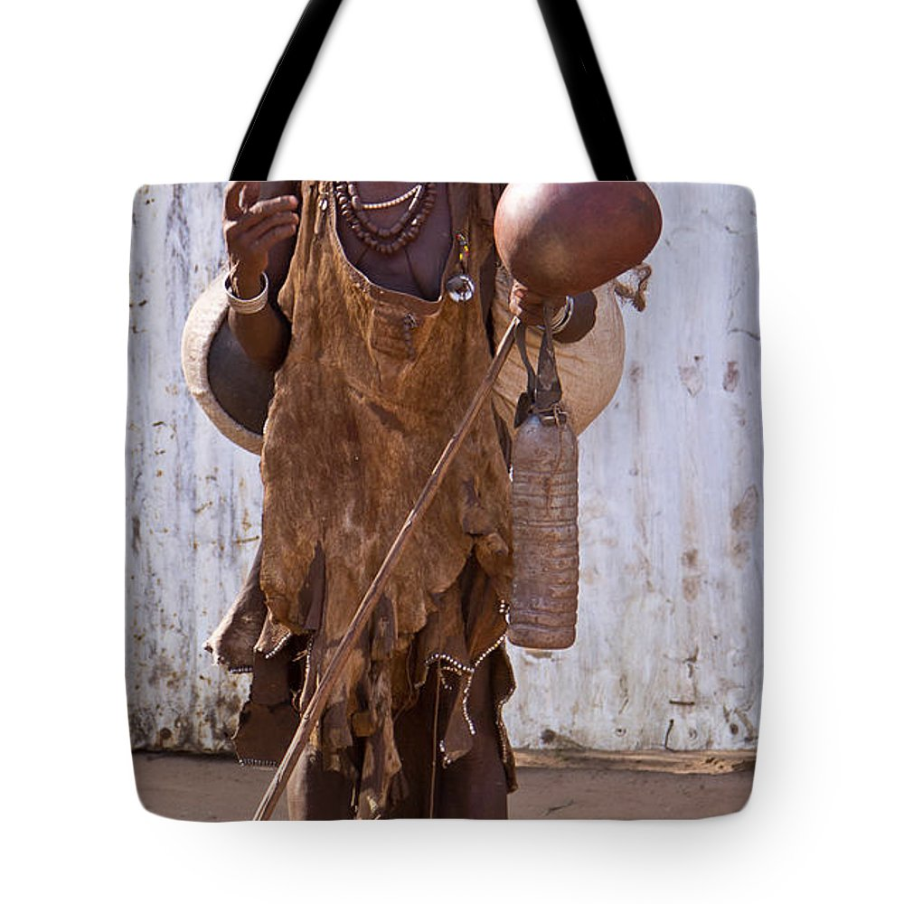 Africa Tote Bag featuring the painting Ethiopia-south Market Detail A by Robert SORENSEN