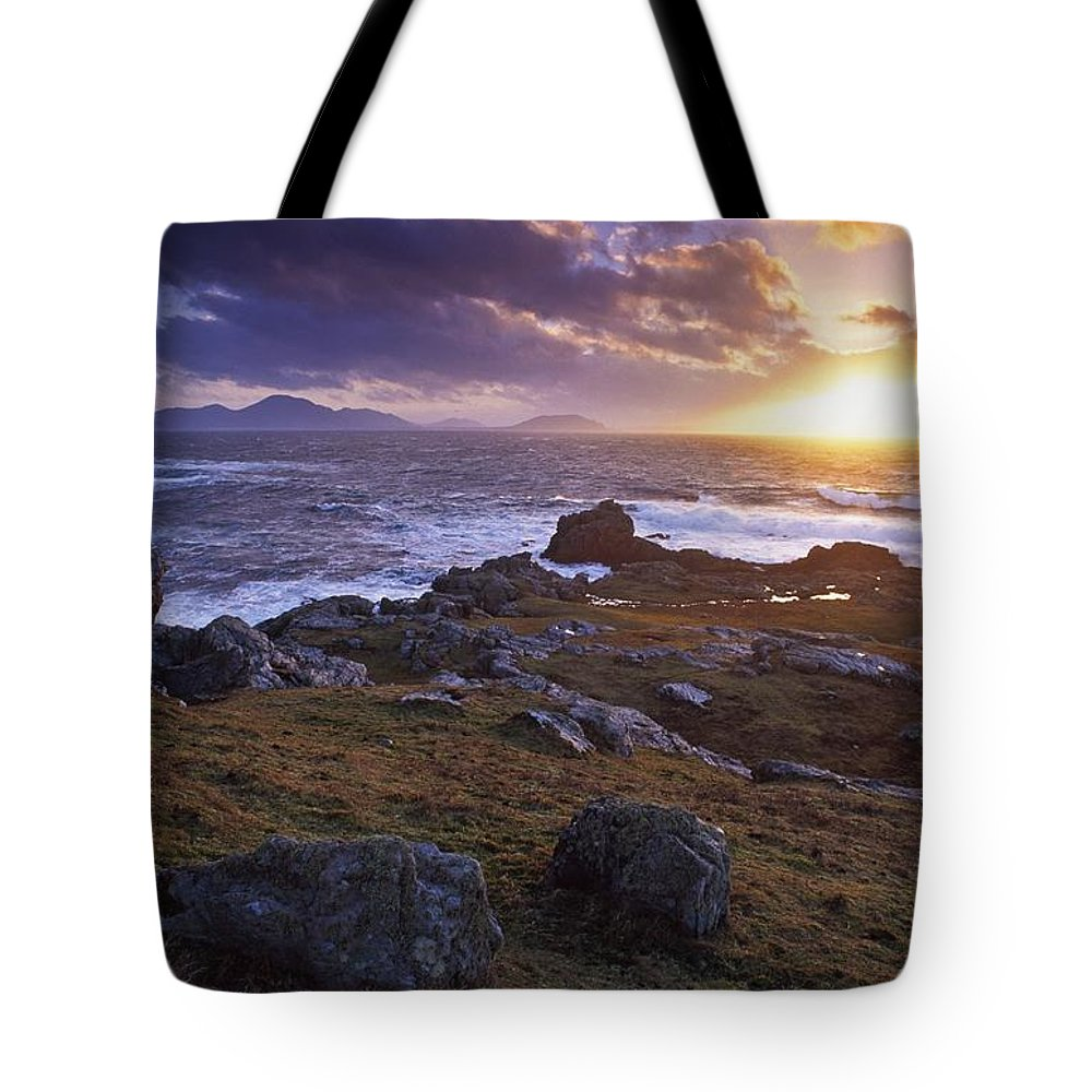 Bay Tote Bag featuring the photograph Evening At Breasty Bay Near Malin Head by Gareth McCormack