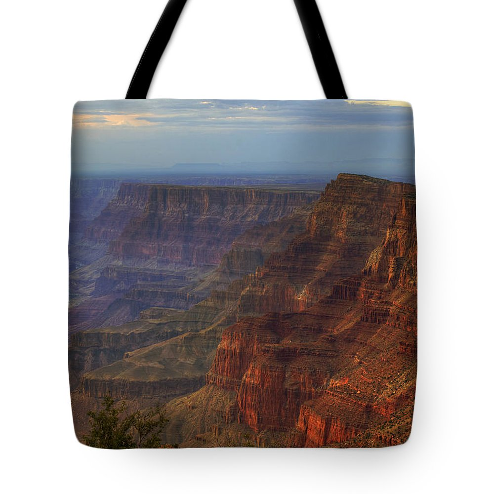 Grand Tote Bag featuring the photograph Evening At Desert View by Ricky Barnard